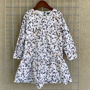 Toddler Girl Bird Print Chic Long Sleeves Dress